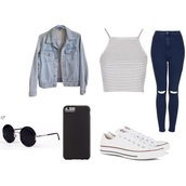 jeans,top,iphone case,jacket,style,shoes,tank top,denim jacket,stripes,ripped jeans,sunglasses,underwear,panties,mint,pants,wide-leg pants,white pants