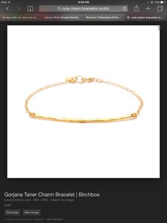 jewels gold bracelets chain cute tumblr gold bracelets