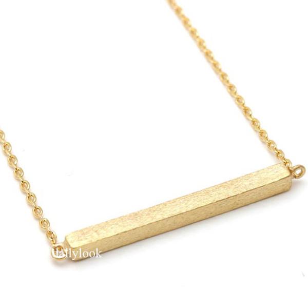 jewels bar necklace golden bar silver bar necklace simple necklace woman necklace rectangular necklace rectangular anarchy street