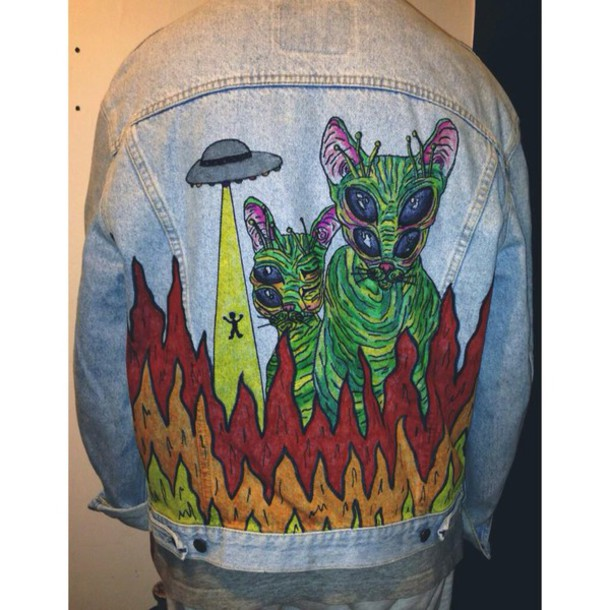 jacket alien space jeans