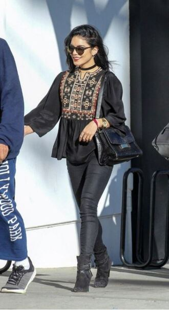 shoes top blouse vanessa hudgens fall outfits