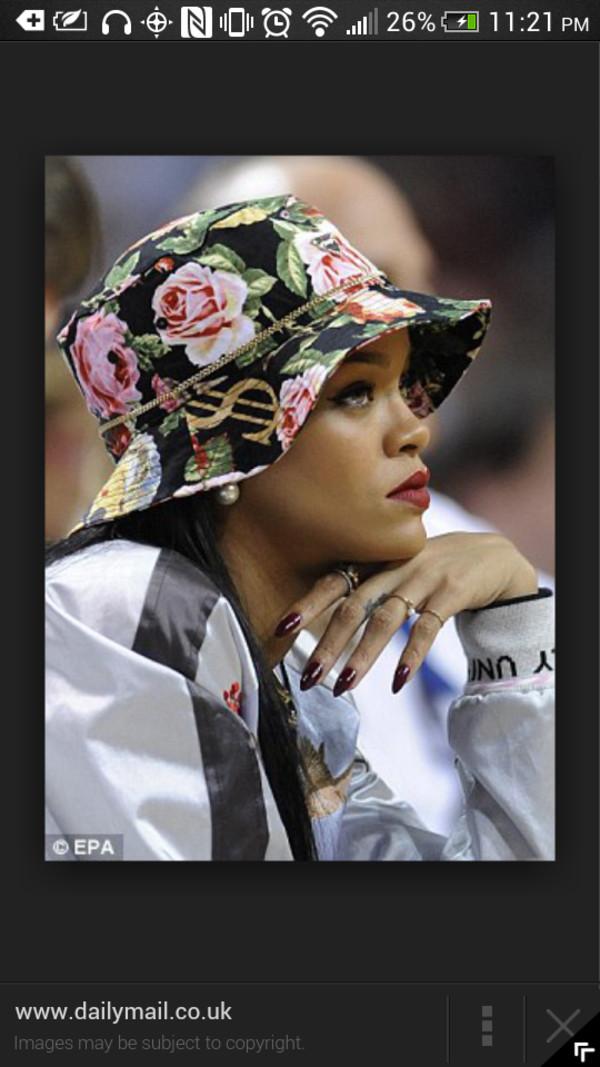 floral bucket hat rihanna floral hat hat
