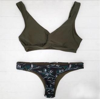swimwear army green bikini swimwear two piece