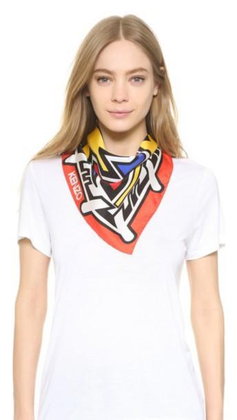 geometric scarf red