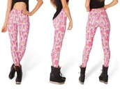pants,pink,princess bubblegum,adventure time leggings,adventure time,leggings