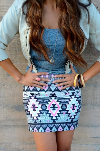 jacket cream skirt zip