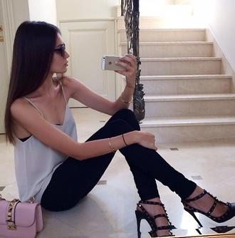 shoes valentino rock stud heels