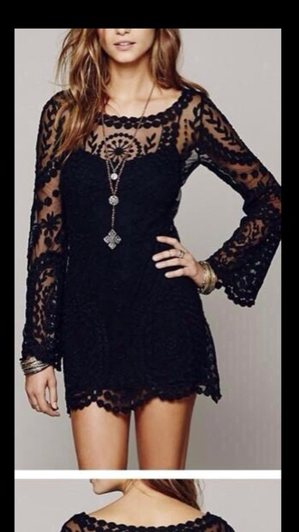 dress black pretty party dress