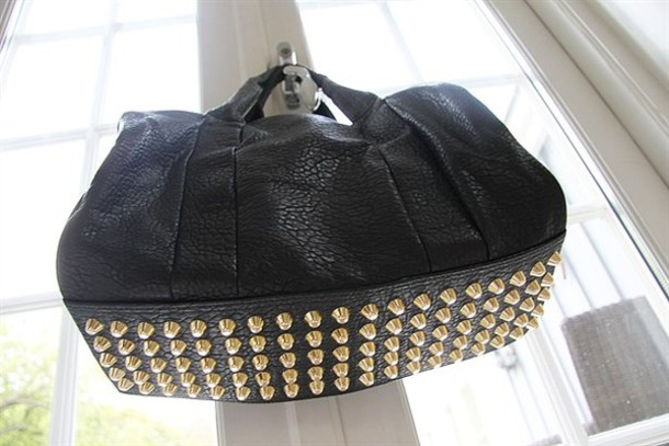 alexander wang studs black bag