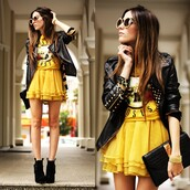 jacket,hipster,rock,black,perfecto,lookbook,dress,fashion coolture,shoes