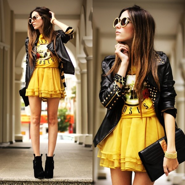 jacket hipster rock black perfecto lookbook dress fashion coolture shoes
