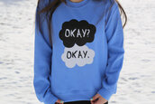 sweater,the fault in our stars,john green,jacket,top,crewneck,tfios sweater