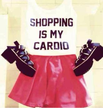 shirt cute shopping cardio basic