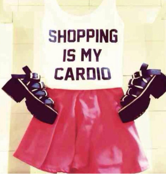 cute shopping shirt cardio basic