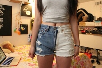 jeans high waisted tumblr blue white shorts high waisted shorts denim denim vintage levis white shorts distressed shorts
