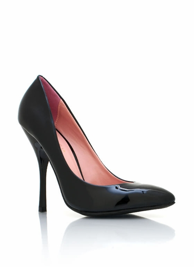 patent-leather-pumps BLACK CORAL NUDE ORANGE - GoJane.com