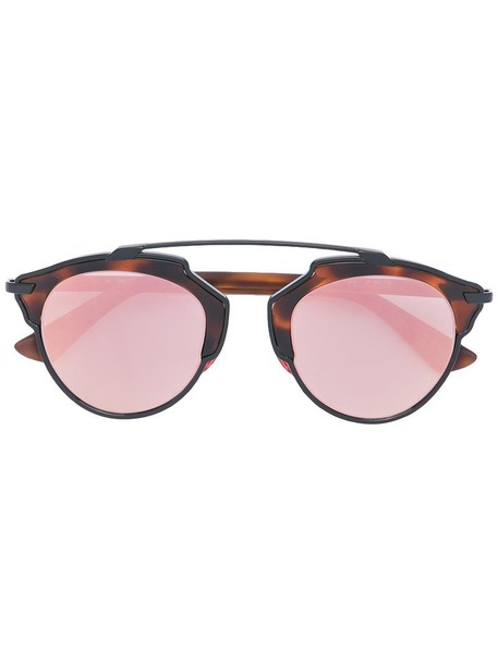 Dior Eyewear metal women sunglasses brown