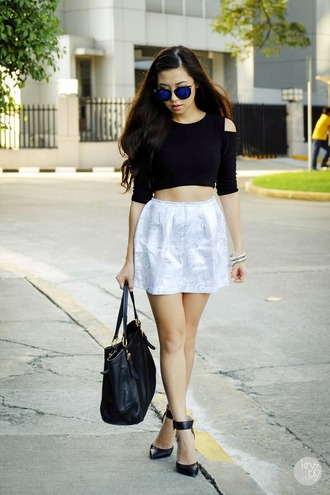 skirt jewels shoes sunglasses bag t-shirt kryzuy