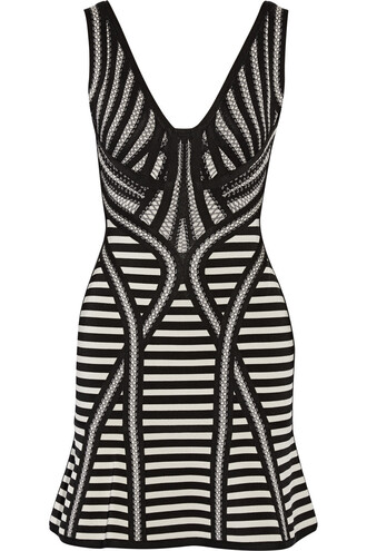 dress mini dress mini knit jacquard black