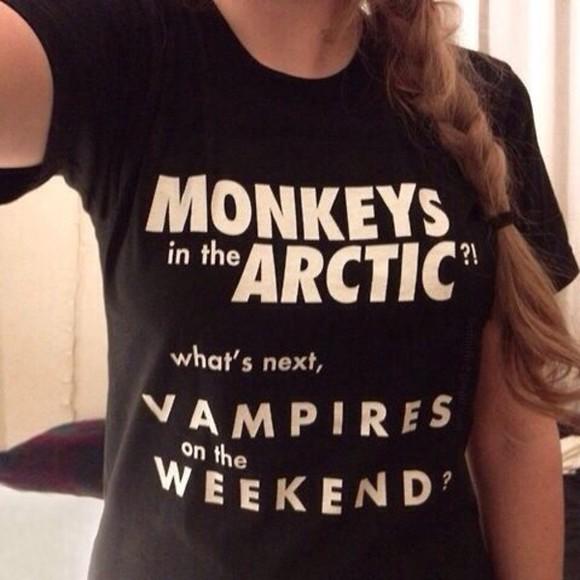 t-shirt arctic monkeys vampire weekend indie tumblr tumblr outfit shirt arctic life girl