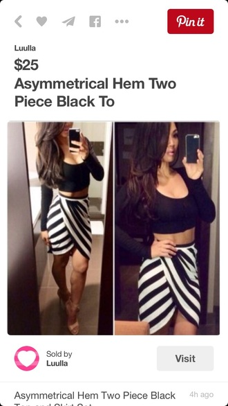 skirt asymmetrical black and white summer outfits outfit