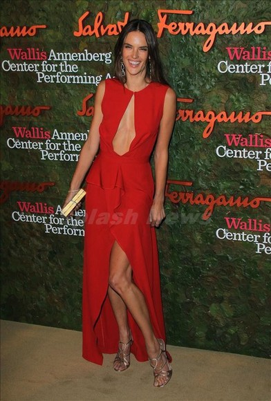 dress alessandra ambrosio red dress