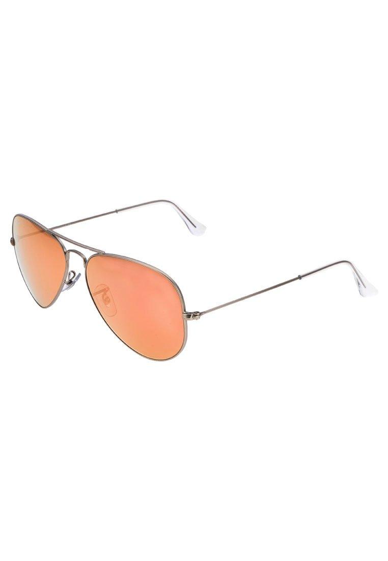 Ray-Ban AVIATOR - Sonnenbrille - rot/silberfarben - Zalando.de