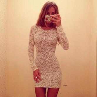 dress sexy dress white dress lace dress short dress bodycon dress