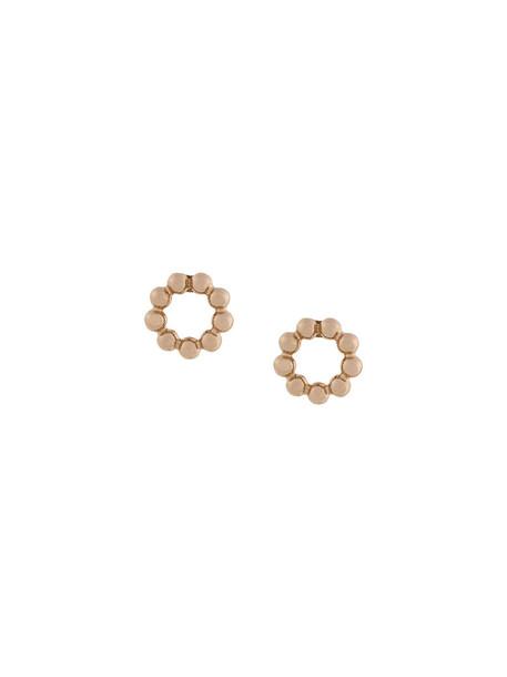 women beaded earrings stud earrings gold grey metallic jewels