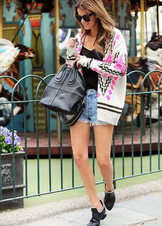 sweater black pink white selena gomez cardigan
