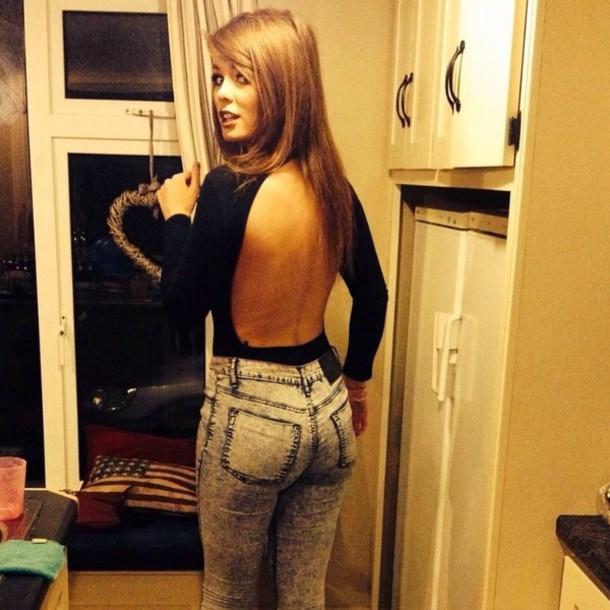 sweater backless black backless sweater