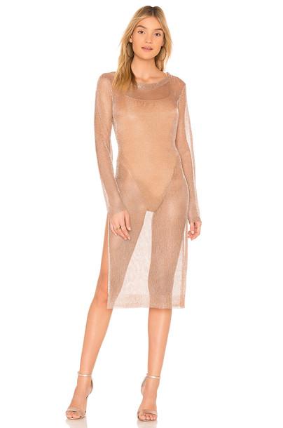 dress metallic dress metallic slit violet copper