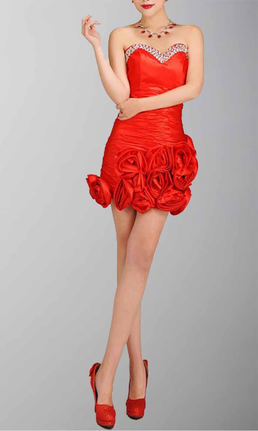 Sheath Flame Taffeta Floral Cocktail Dress KSP031 [KSP031] - £98.00 : Cheap Prom Dresses Uk, Bridesmaid Dresses, 2014 Prom & Evening Dresses, Look for cheap elegant prom dresses 2014, cocktail gowns, or dresses for special occasions? kissprom.co.uk offers various bridesmaid dresses, evening dress, free shipping to UK etc.