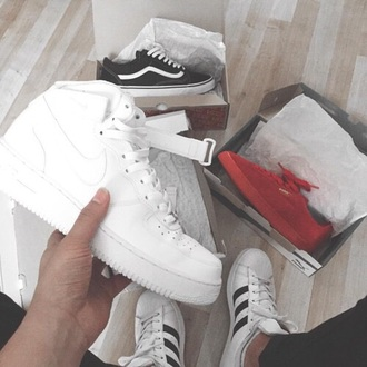 shoes nike air force 1 high top sneakers white sneakers nike nike sneakers nike shoes