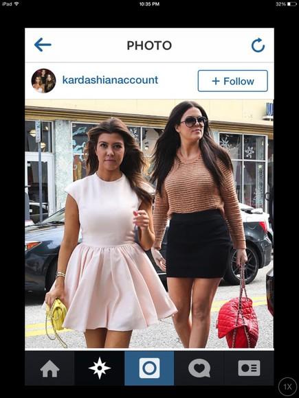 kourtney kardashian dress pink dress