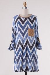 top,chevron,blue,navy,tunic,suede,pockets