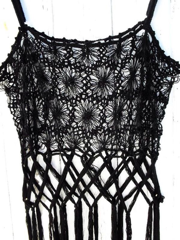 top black lace 70s style vintage