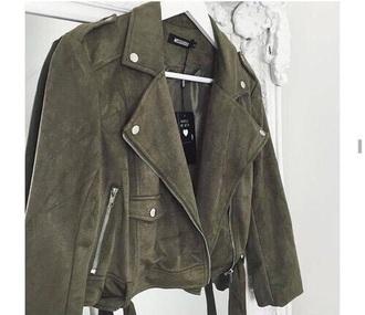 jacket army green jacket khaki suede jacket