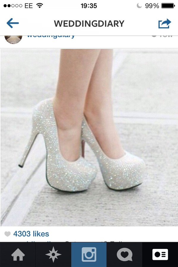 shoes silver shoes white glitter prom party heels pumps pretty high heels cute high heels diamonds