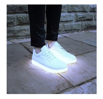 white shoes sports shoes sportswear neon sneakers