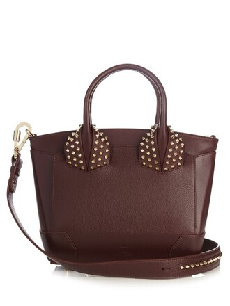 cross bag leather burgundy