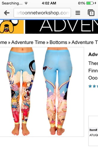 jeans adventure time leggings