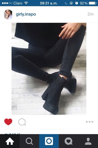 shoes black boots ankle boots black booties