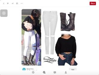 shirt style stealer crop black selena gomez