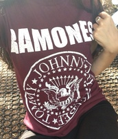t-shirt,ramones,red