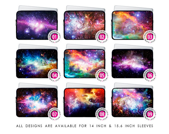 14 & 15.6 inch neoprene laptop sleeve nebula by caseaddiction