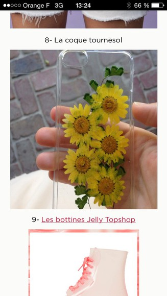 spring summer dress phone case flowers yellow sunflower phonecase iphone style