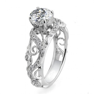 jewels gorgeous round cut diamond engagement ring 2015 new style diamond engagement ring custom made vintage cirrus style engagement ring with big round sona diamond evolees.com vintage cirrus style engagement ring