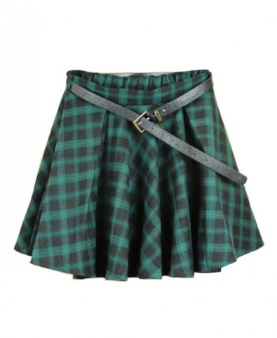 Preppy Style Plaid Mini Skirt - Skirts - Clothing