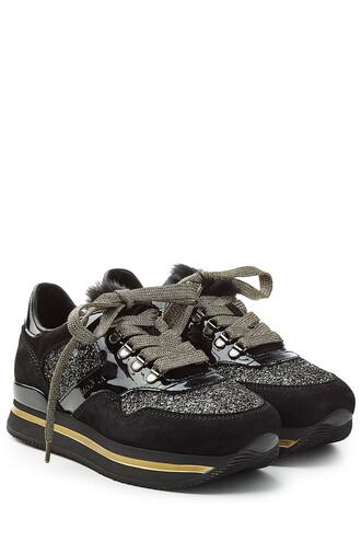 sneakers. glitter sneakers platform sneakers suede black shoes